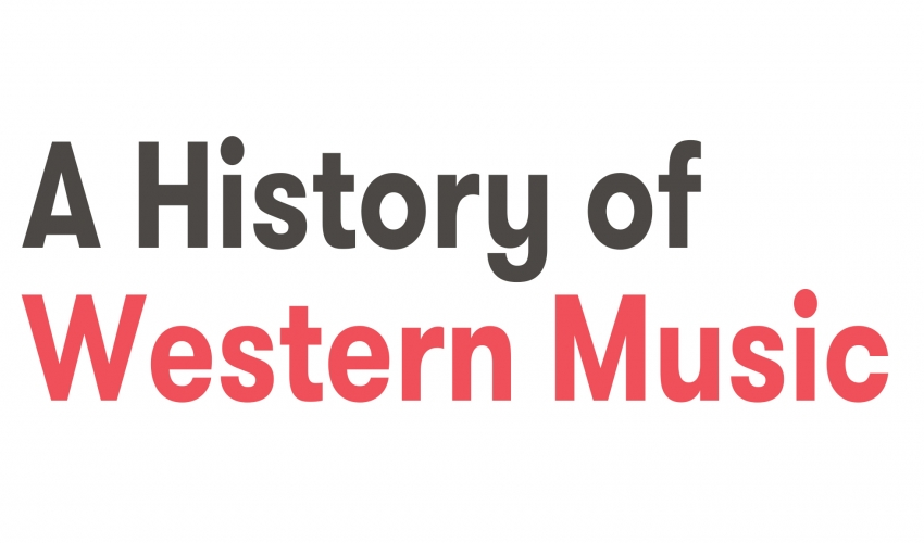 A History of Western Music - Part 1