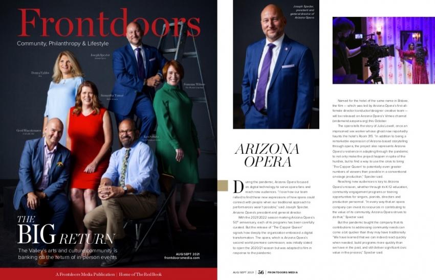 """The Big Return"" - Frontdoors Magazine (August/September 2021)"