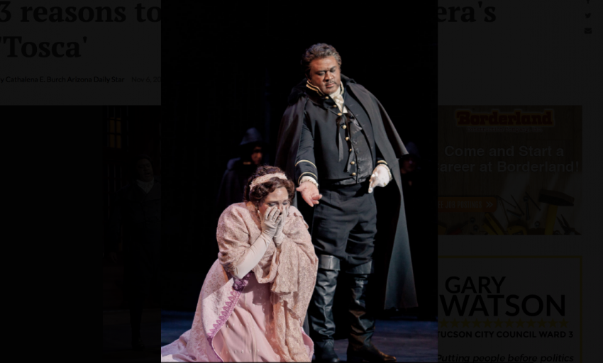Arizona Opera's 'Tosca' with Kara Shay Thomson and Gordon Hawkins