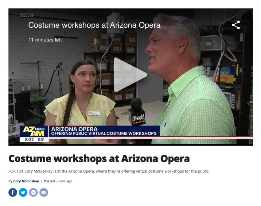 Fox10: Costume workshops at Arizona Opera