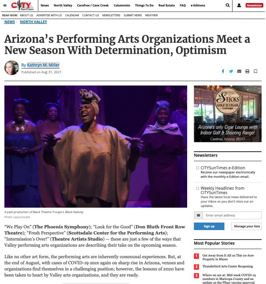 Arizona's Performing Arts Organizations Meet a New Season With Determination, Optimism