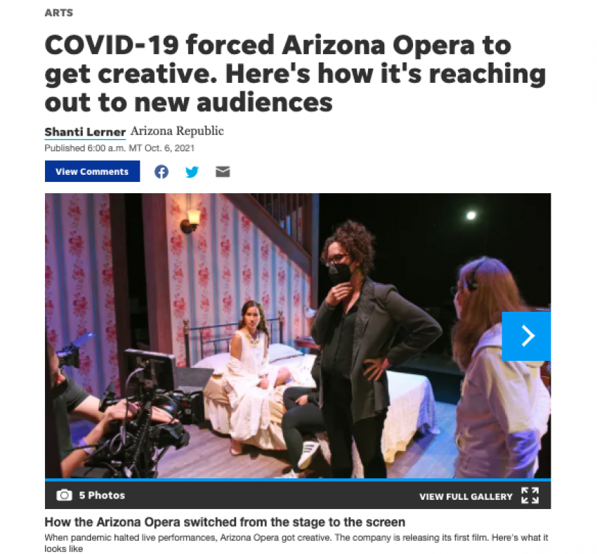 COVID-19 forced Arizona Opera to get creative. Here's how it's reaching out to new audiences